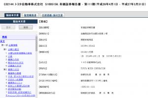 有価証券報告書_トヨタ自動車